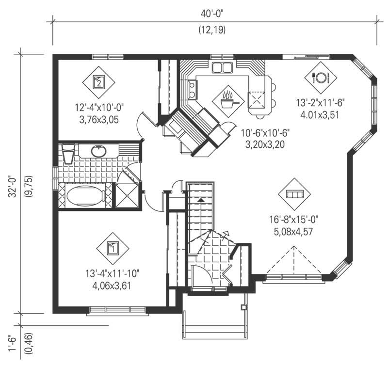 Traditional ranch house plans home design pi 09727 12642 for How much is 1100 square feet