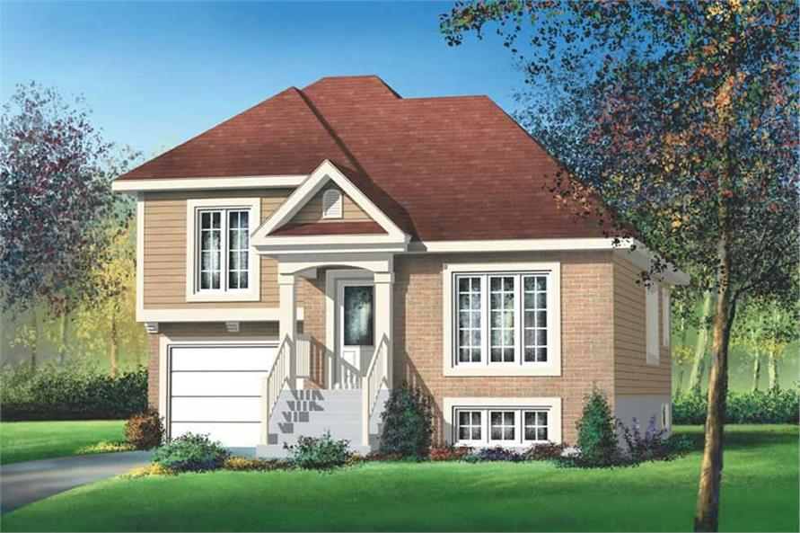 2-Bedroom, 1130 Sq Ft Small House Plans - 157-1103 - Main Exterior