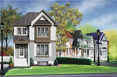 3-Bedroom, 1368 Sq Ft Ranch House Plan - 157-1106 - Front Exterior