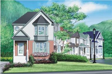 2-Bedroom, 1372 Sq Ft Ranch House Plan - 157-1107 - Front Exterior