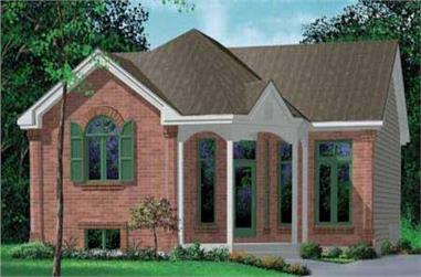 2-Bedroom, 1071 Sq Ft Small House Plans - 157-1108 - Main Exterior