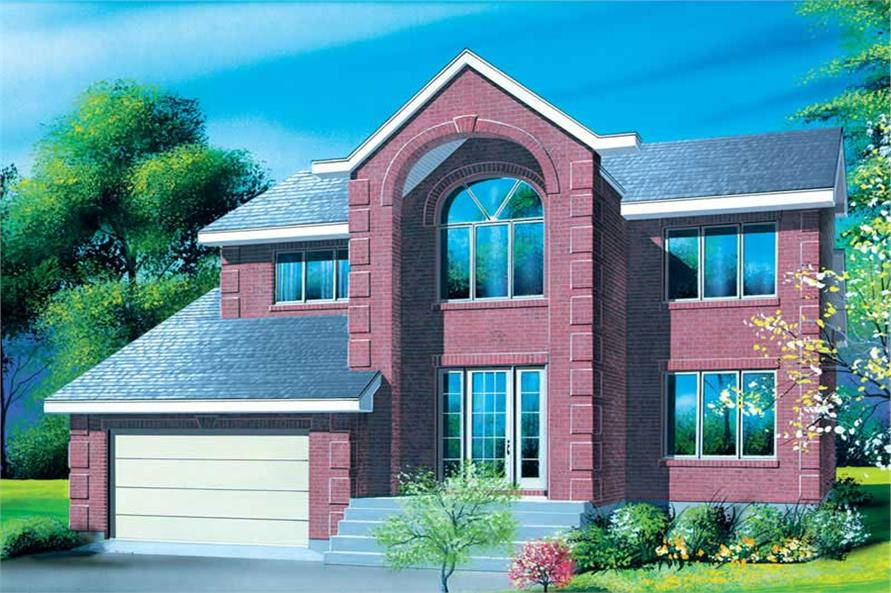 4-Bedroom, 2350 Sq Ft European Home Plan - 157-1109 - Main Exterior
