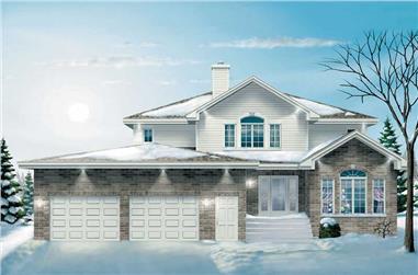 4-Bedroom, 2868 Sq Ft Craftsman Home Plan - 157-1112 - Main Exterior