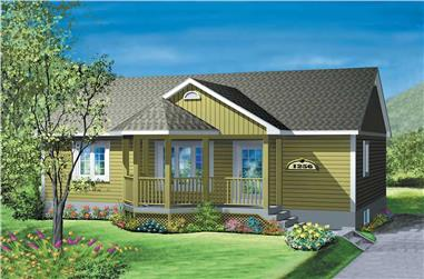 2-Bedroom, 900 Sq Ft Ranch Home Plan - 157-1113 - Main Exterior