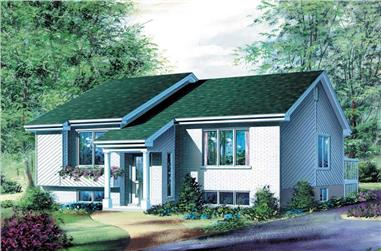 1-Bedroom, 994 Sq Ft Bungalow Home Plan - 157-1114 - Main Exterior