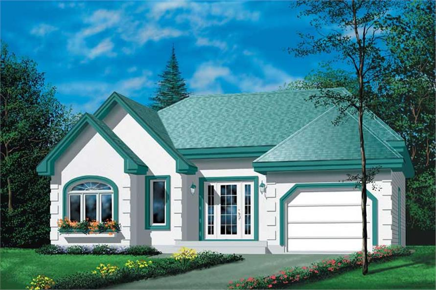2-Bedroom, 1108 Sq Ft Ranch House Plan - 157-1116 - Front Exterior