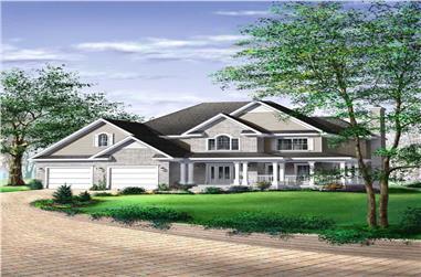 3-Bedroom, 2461 Sq Ft European House Plan - 157-1117 - Front Exterior