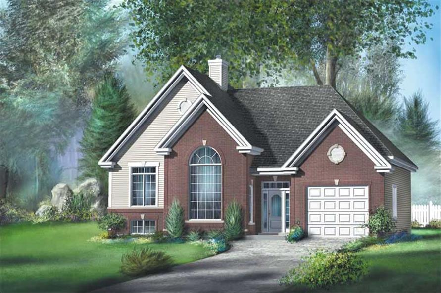 2-Bedroom, 1243 Sq Ft Ranch Home Plan - 157-1118 - Main Exterior