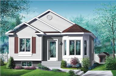 2-Bedroom, 928 Sq Ft Bungalow Home Plan - 157-1122 - Main Exterior