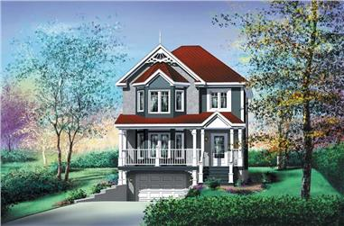 3-Bedroom, 1332 Sq Ft Ranch House Plan - 157-1124 - Front Exterior
