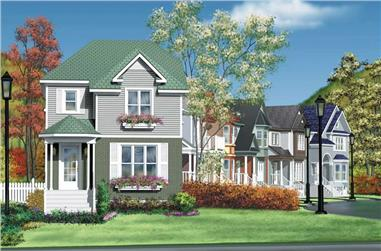 3-Bedroom, 1360 Sq Ft Ranch House Plan - 157-1127 - Front Exterior