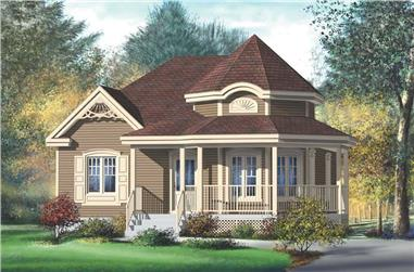 2-Bedroom, 974 Sq Ft Country House Plan - 157-1129 - Front Exterior