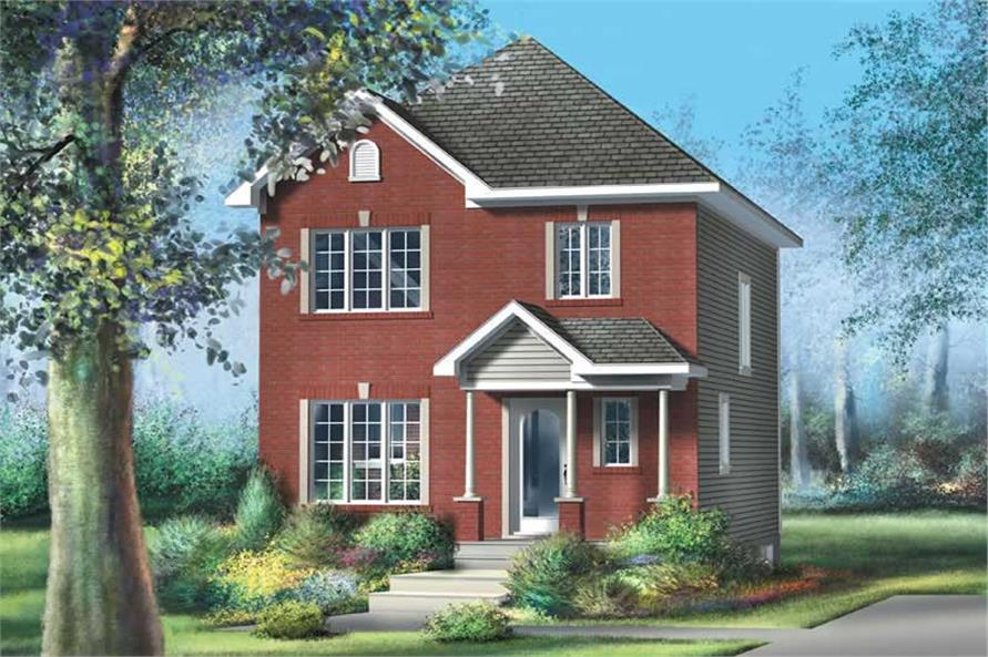 3-Bedroom, 1248 Sq Ft Colonial Home Plan - 157-1134 - Main Exterior
