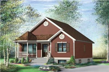 2-Bedroom, 845 Sq Ft Bungalow House Plan - 157-1141 - Front Exterior