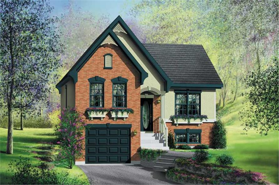 3-Bedroom, 1786 Sq Ft Bungalow House Plan - 157-1143 - Front Exterior