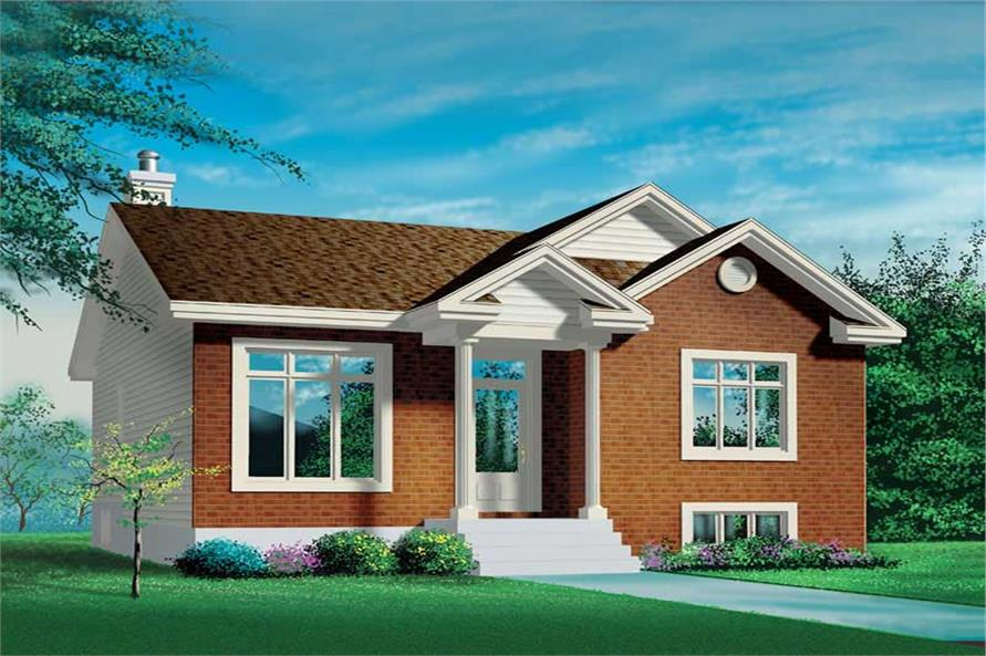 2-Bedroom, 1041 Sq Ft Bungalow House Plan - 157-1147 - Front Exterior