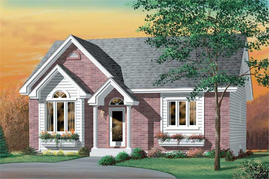 2-Bedroom, 1110 Sq Ft Ranch House Plan - 157-1148 - Front Exterior
