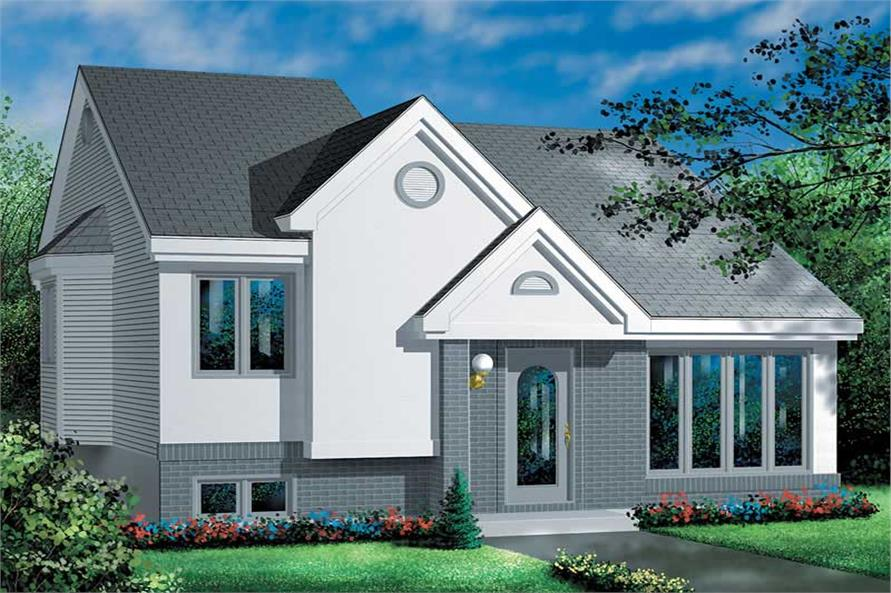 2-Bedroom, 949 Sq Ft Ranch House Plan - 157-1150 - Front Exterior