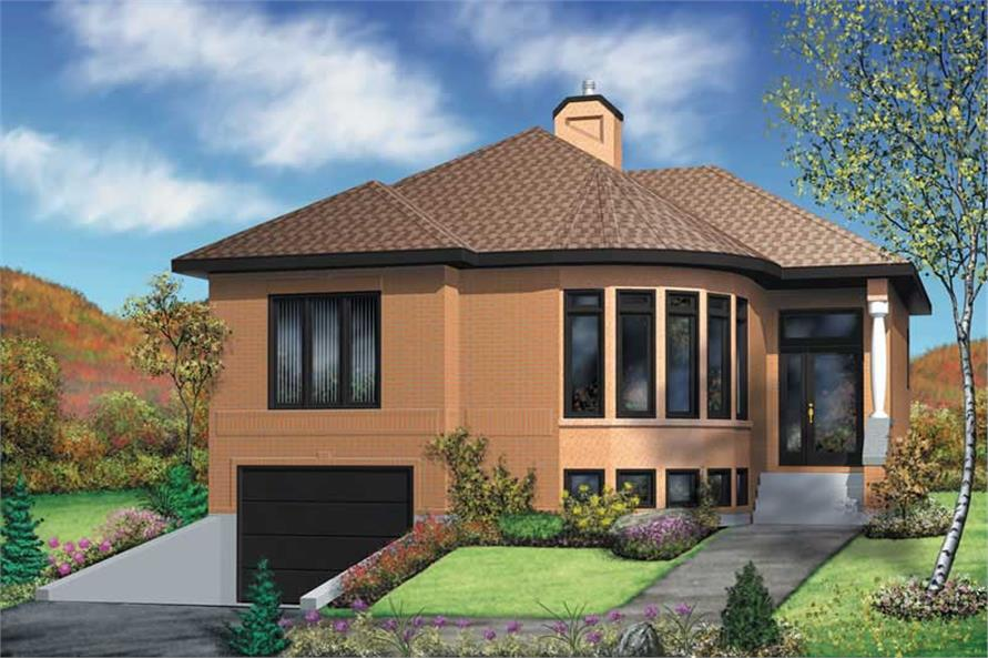 2-Bedroom, 1019 Sq Ft Bungalow House Plan - 157-1152 - Front Exterior