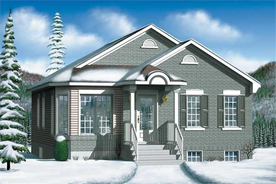 2-Bedroom, 949 Sq Ft Bungalow House Plan - 157-1154 - Front Exterior