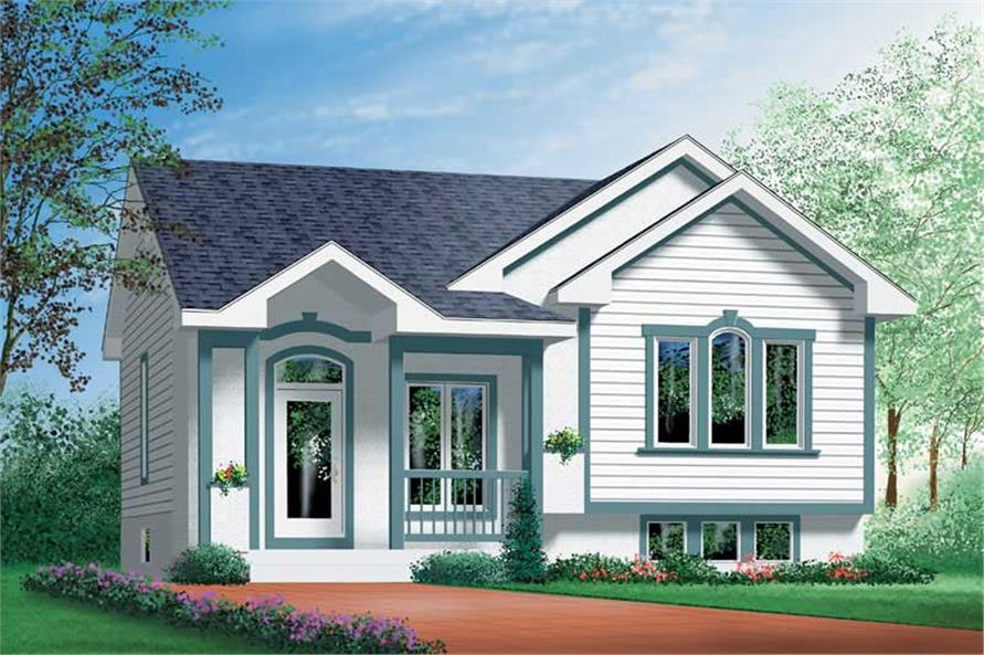 2-Bedroom, 886 Sq Ft Ranch Home Plan - 157-1155 - Main Exterior