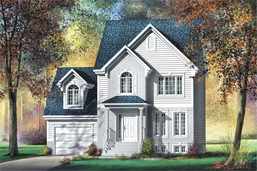2-Bedroom, 1458 Sq Ft Small House Plans - 157-1156 - Front Exterior
