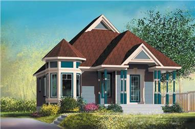 2-Bedroom, 906 Sq Ft Bungalow House Plan - 157-1159 - Front Exterior