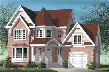 3-Bedroom, 2186 Sq Ft Traditional Home Plan - 157-1164 - Main Exterior