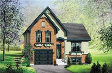 3-Bedroom, 1445 Sq Ft Small House Plans - 157-1166 - Front Exterior