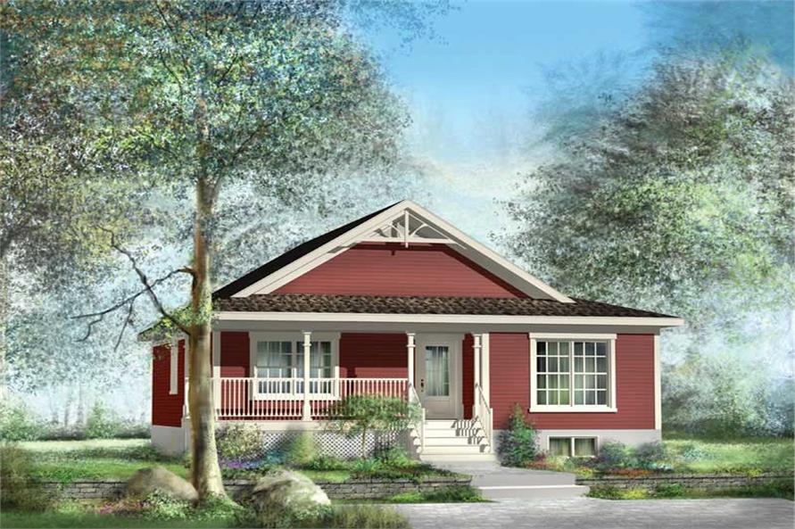 2-Bedroom, 1173 Sq Ft Bungalow House Plan - 157-1167 - Front Exterior