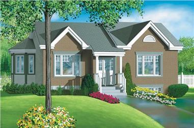 2-Bedroom, 1008 Sq Ft Ranch Home Plan - 157-1170 - Main Exterior