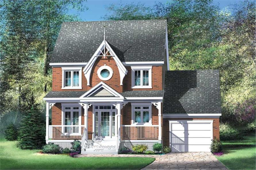 2-Bedroom, 1280 Sq Ft Country House Plan - 157-1171 - Front Exterior