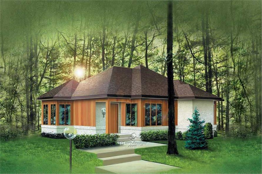 2-Bedroom, 1063 Sq Ft Prairie Home Plan - 157-1173 - Main Exterior