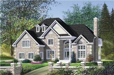 3-Bedroom, 2731 Sq Ft Multi-Level Home Plan - 157-1174 - Main Exterior