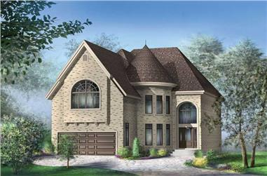 4-Bedroom, 2922 Sq Ft European Home Plan - 157-1175 - Main Exterior