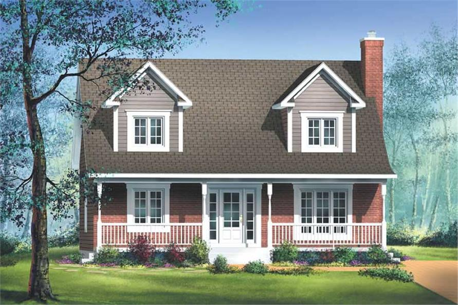 3-Bedroom, 1564 Sq Ft Country Home Plan - 157-1179 - Main Exterior