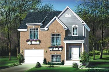 3-Bedroom, 1608 Sq Ft Contemporary House Plan - 157-1181 - Front Exterior