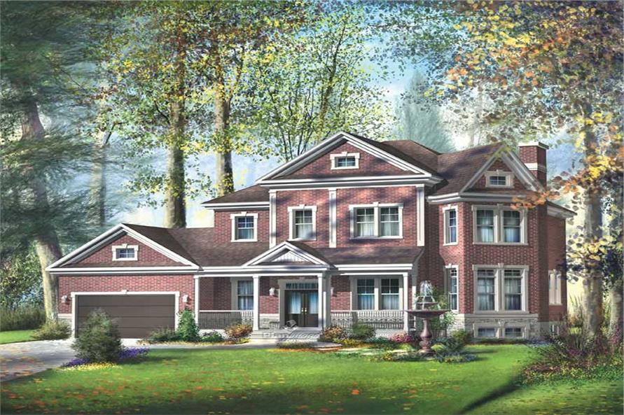 5-Bedroom, 3348 Sq Ft European Home Plan - 157-1182 - Main Exterior