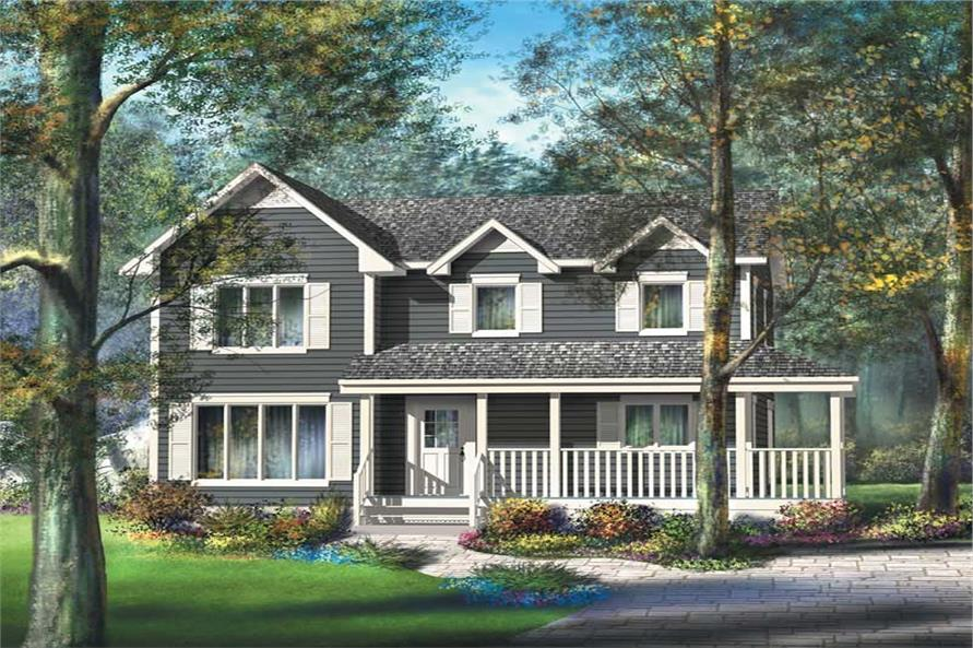 3-Bedroom, 1820 Sq Ft Country Home Plan - 157-1183 - Main Exterior