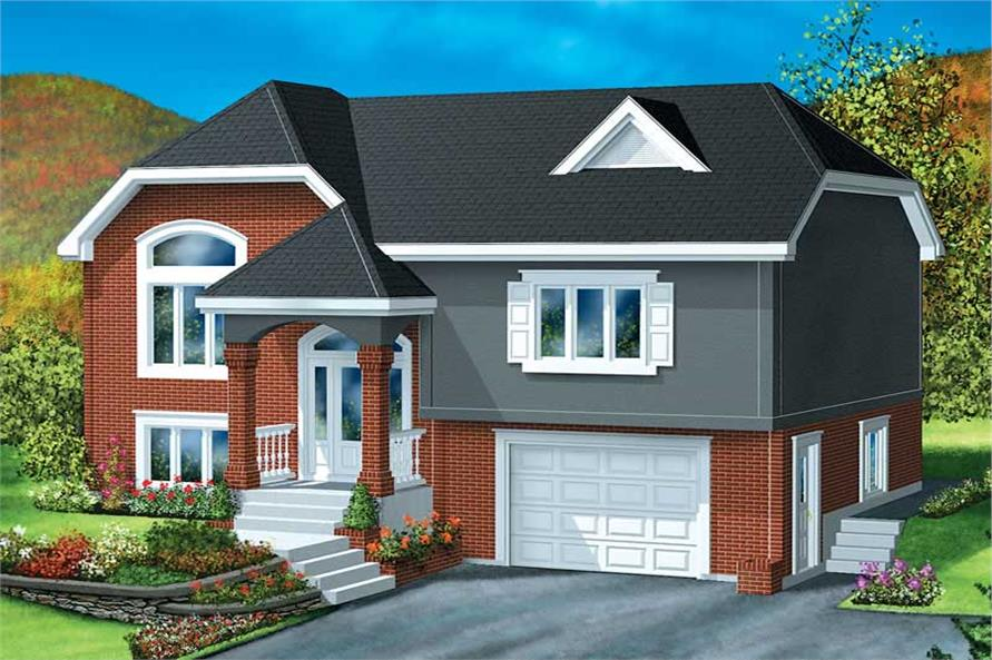3-Bedroom, 1093 Sq Ft European Home Plan - 157-1185 - Main Exterior