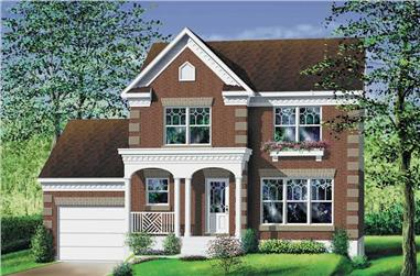 3-Bedroom, 1395 Sq Ft Multi-Level House Plan - 157-1186 - Front Exterior
