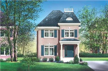 3-Bedroom, 1484 Sq Ft Ranch House Plan - 157-1189 - Front Exterior