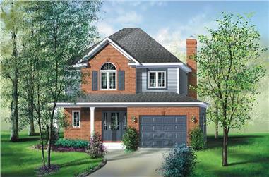 3-Bedroom, 1570 Sq Ft Multi-Level Home Plan - 157-1190 - Main Exterior