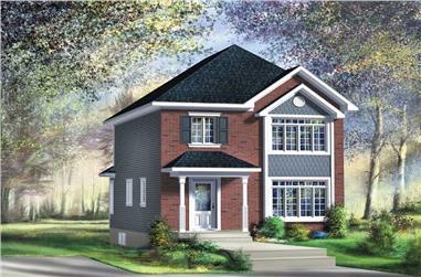 3-Bedroom, 1195 Sq Ft Ranch Home Plan - 157-1191 - Main Exterior