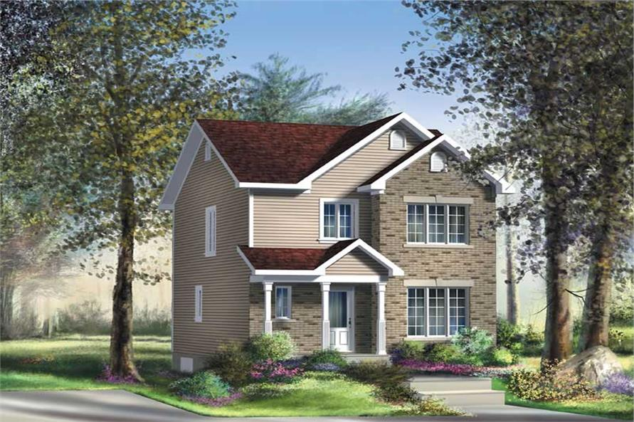 3-Bedroom, 1296 Sq Ft Ranch Home Plan - 157-1192 - Main Exterior