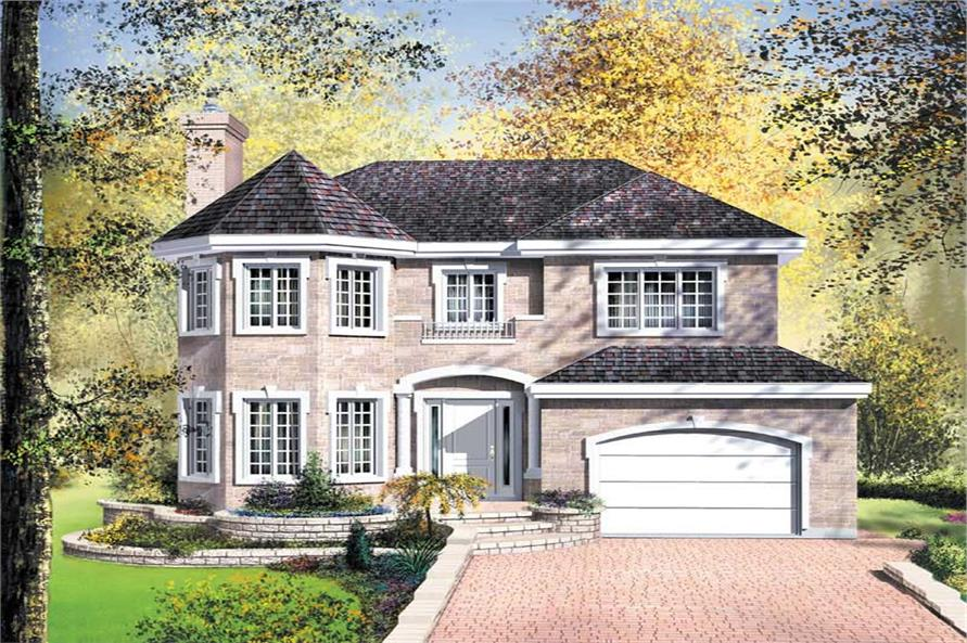 4-Bedroom, 2168 Sq Ft European Home Plan - 157-1195 - Main Exterior