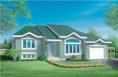 3-Bedroom, 1312 Sq Ft Craftsman Home Plan - 157-1200 - Main Exterior