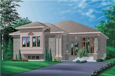 3-Bedroom, 1348 Sq Ft Craftsman Home Plan - 157-1201 - Main Exterior