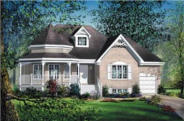 2-Bedroom, 1273 Sq Ft Country Home Plan - 157-1204 - Main Exterior