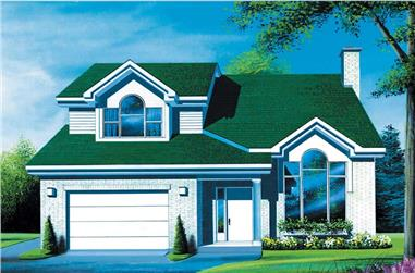 3-Bedroom, 1833 Sq Ft Craftsman House Plan - 157-1205 - Front Exterior